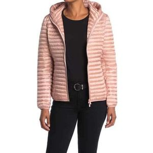 SAVE THE DUCK Pink IRIS Hooded Puffer Jacket